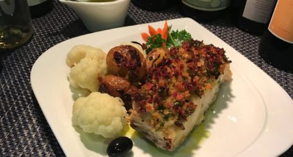 Mariazinha: Fish with assorted vegetables