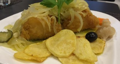 Mariazinha: Fried Codfish with Onion