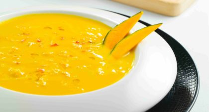 Copa Steakhouse: Roasted Cream of Butternut Squash with Jumbo Lump Crab Meat