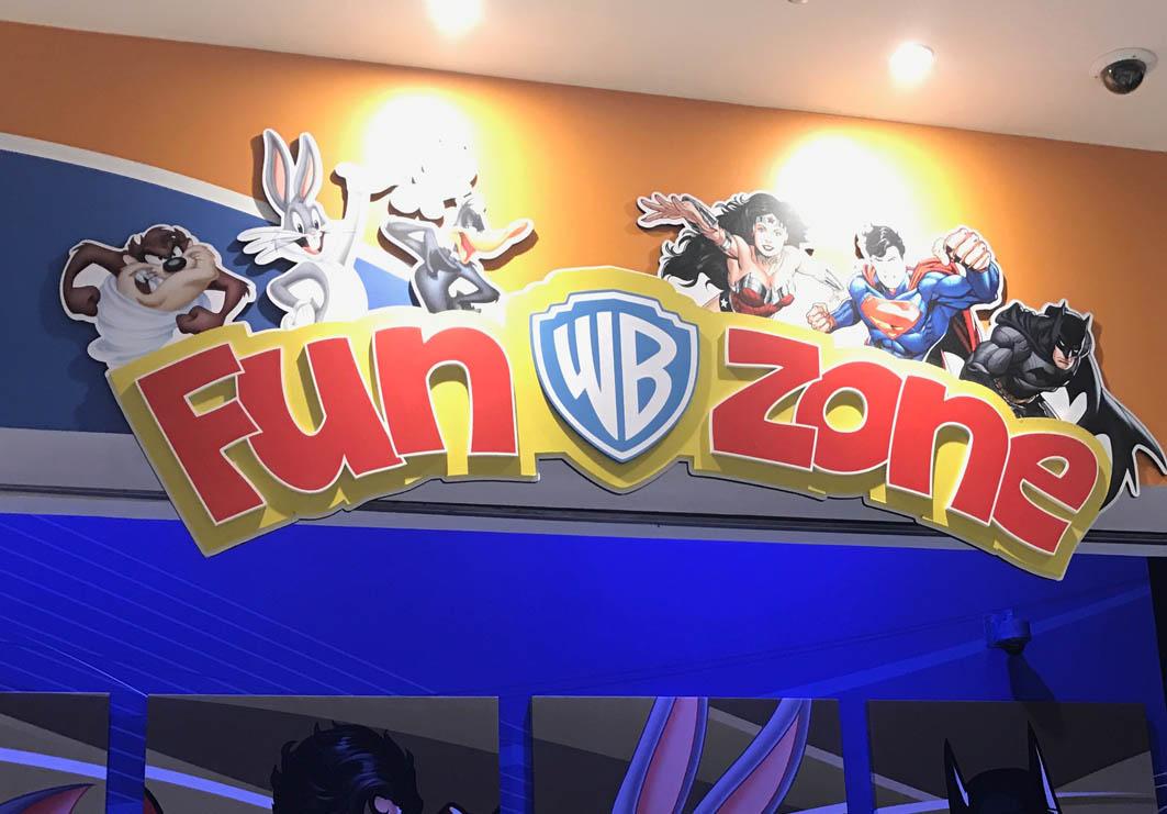 Warner Bros. Fun Zone in Macau: Sign