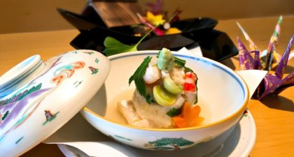 Yamazato: Steamed Amadai with Turnip