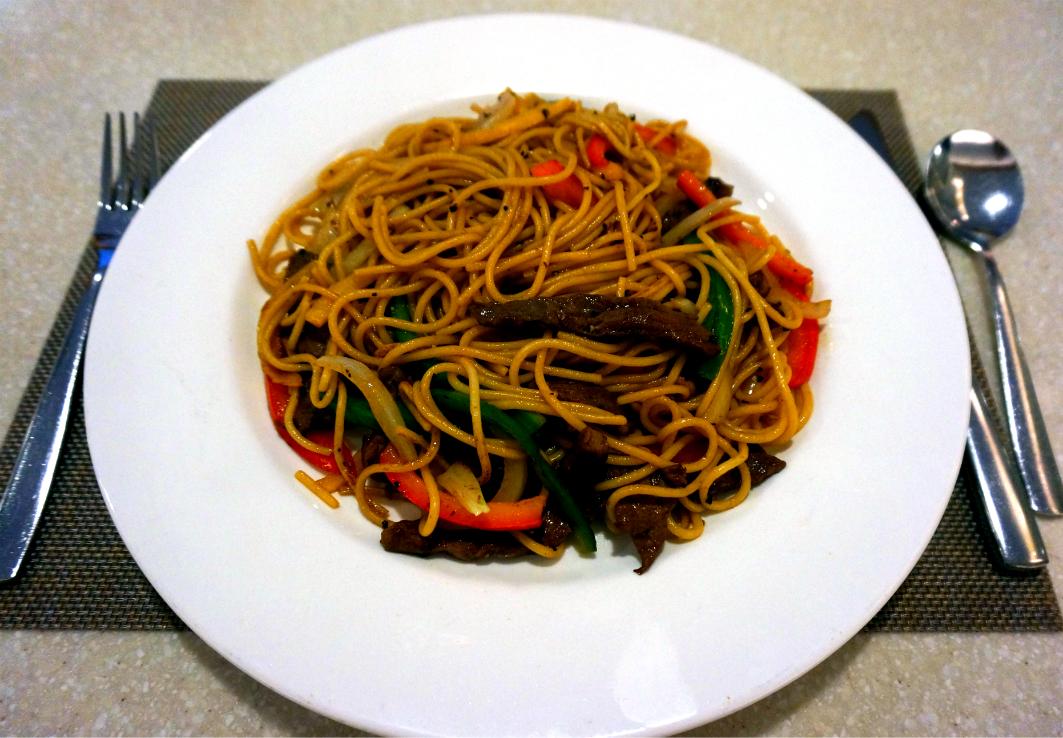 Villa Picasso Macau: Stir Fried Beef Spaghetti